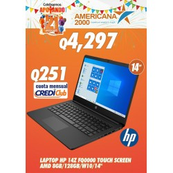 LAPTOP HP 14Z FQ0000 TOUCH SCREEN