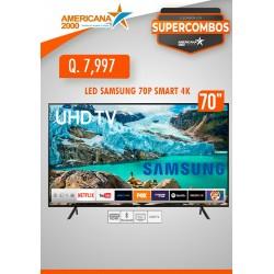 """TV LED SAMSUNG 70"""" SMART 4K"""