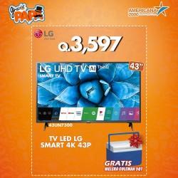 TV LED LG SMART 4K 43P