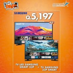 "COMBO TV LED SAMSUNG SMART 43"" + 32P SMART"